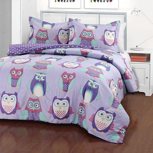 Iteen Hoo Are You Reversible Comforter Set Owl Bedrooms Owl
