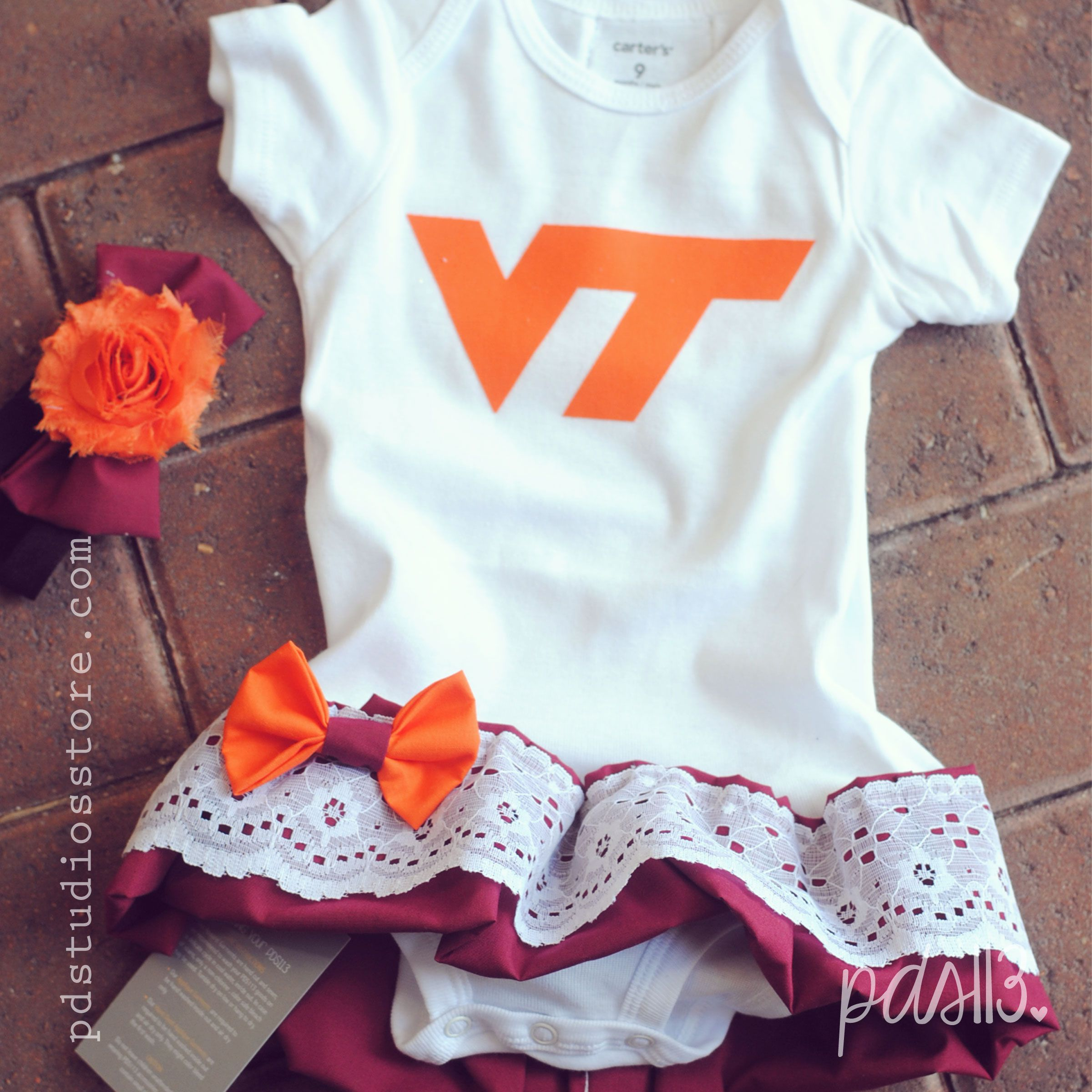 Virginia Tech Baby Girl Sport Dresses Bodysuits