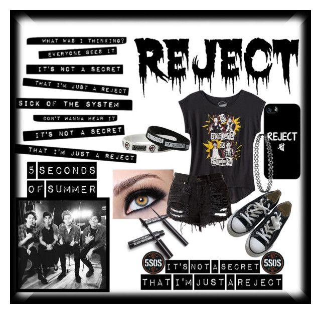"""Reject"" by crystal0248 ❤ liked on Polyvore featuring Converse"