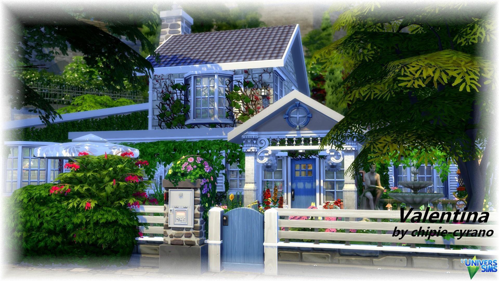 valentina maisons l 39 universims maisons sims 4 pinterest maison sims sims et maisons. Black Bedroom Furniture Sets. Home Design Ideas
