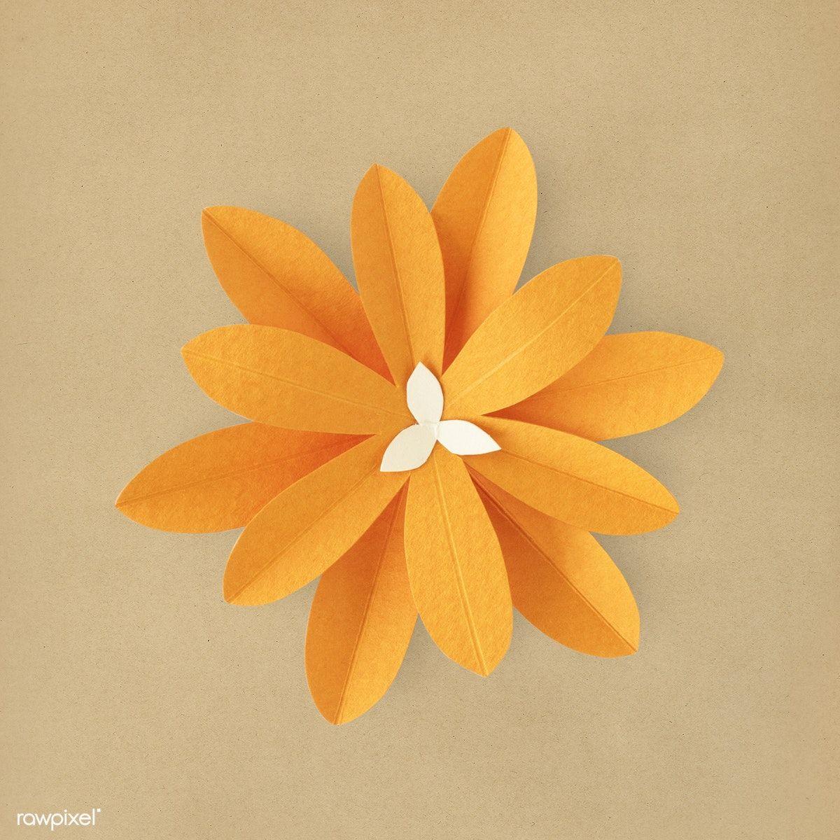 Orang flower paper craft premium image by rawpixel