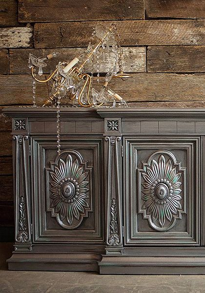 Satin Metallic Platinum Pewter Black Pearl Style Shabby Metallic Painted Furniture