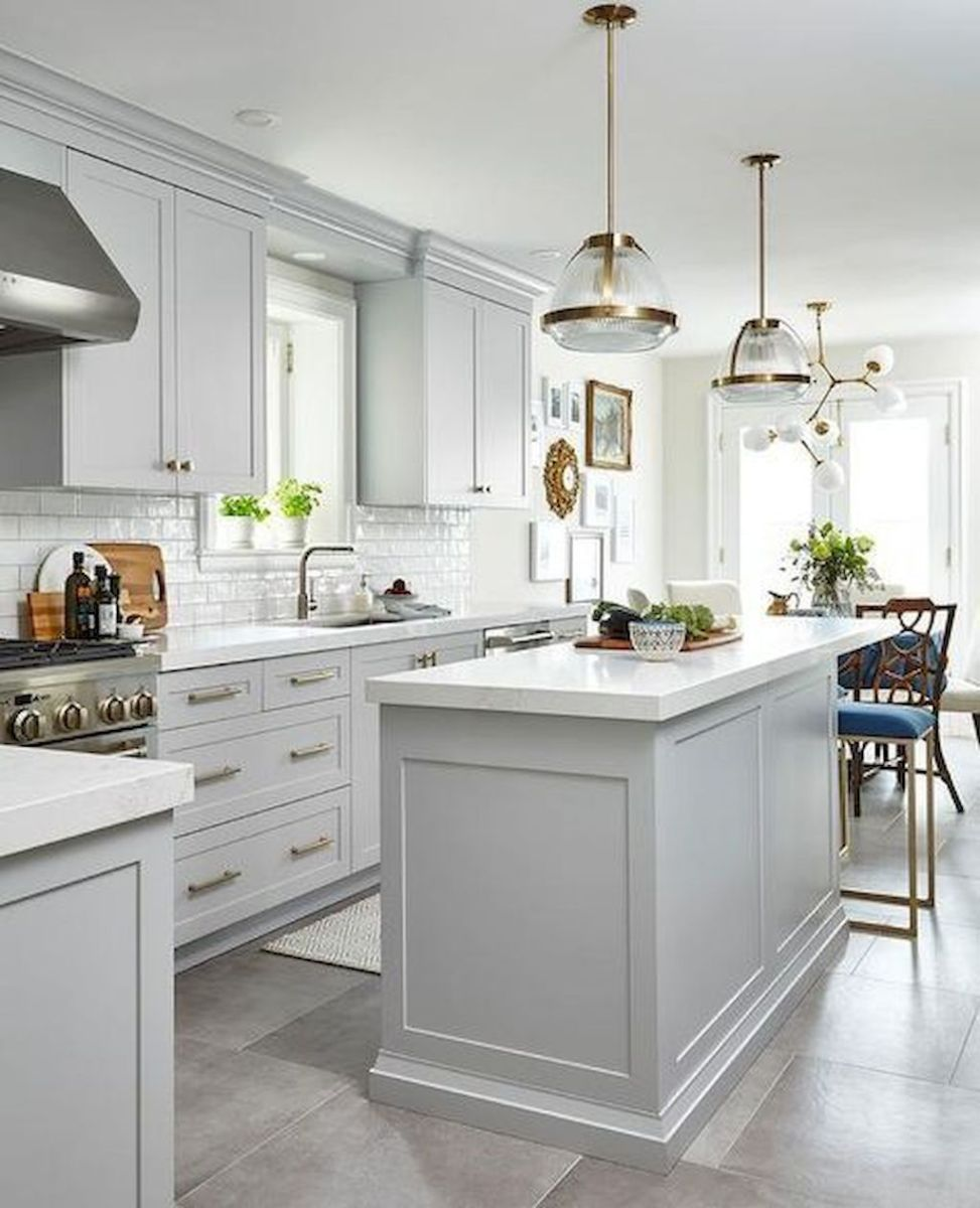 Concept Drawing Kitchen Cabinet: Bright Kitchen With White Kitchen Concept That Never Look