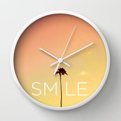 Smile It S Five O Clock Somewhere Cute Clock Clock Big Wall Clocks