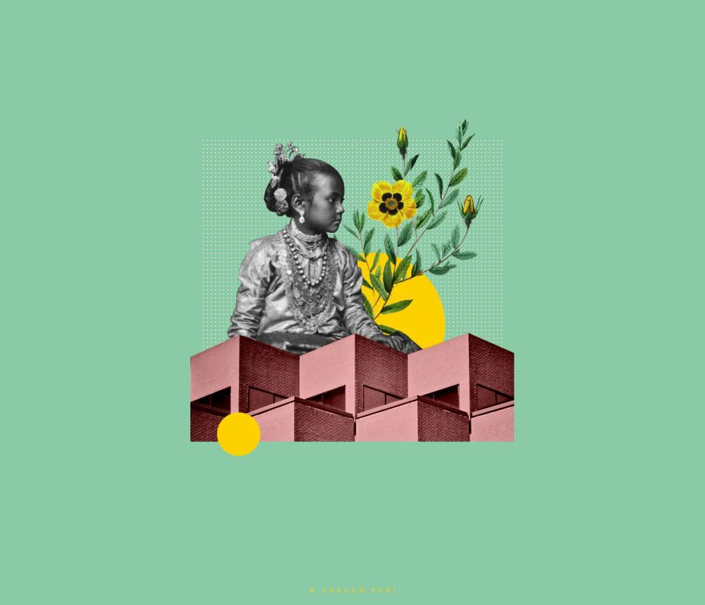 Los Coloridos Collages Digitales De Shagun Puri Blog De Diseno Grafico Y Creatividad Disenos De Unas Collage De Arquitectura Collage Con Revistas