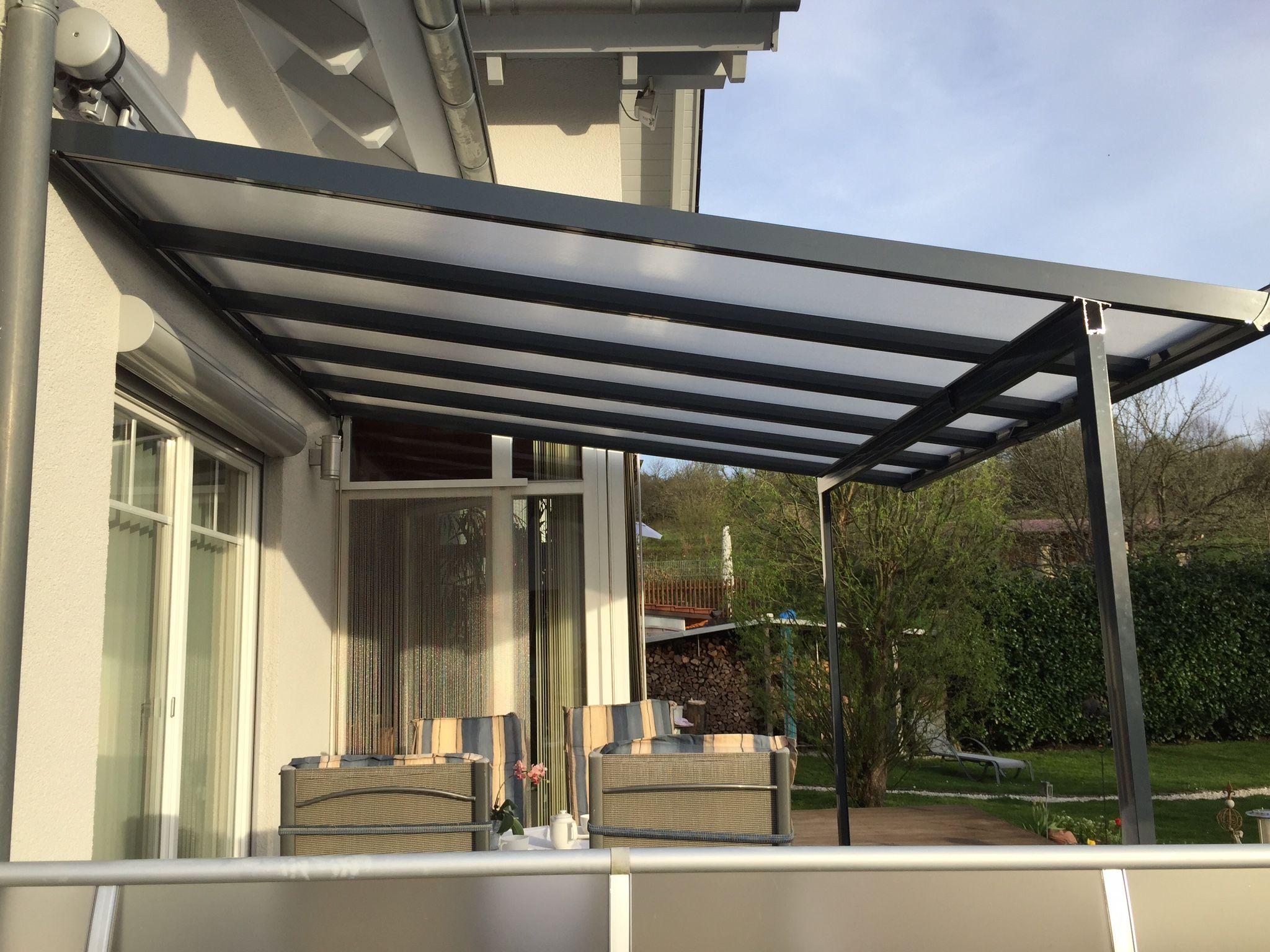 Terrassendach carport bausatz typ a mm anthrazit