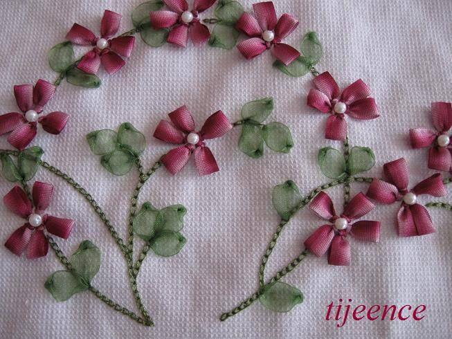 Pin By Ki Uma On Designs Pinterest Ribbon Embroidery