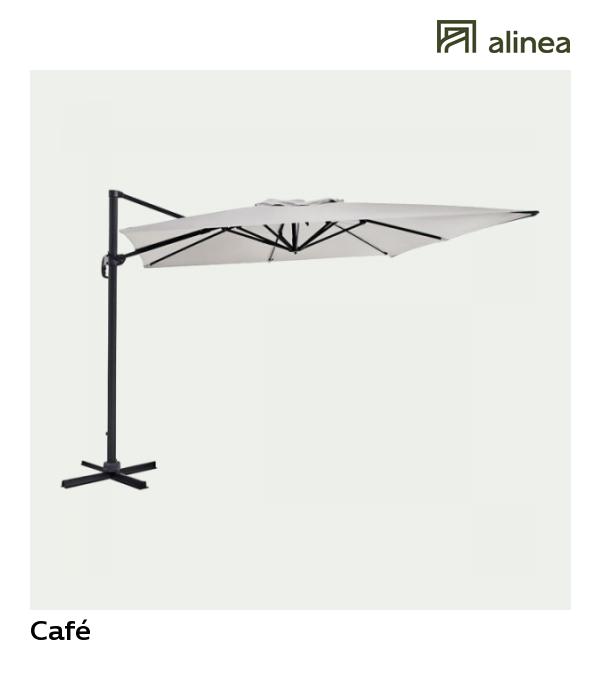 Café Parasol déporté rotatif 360° beige 3m   Terrasse   Pinterest