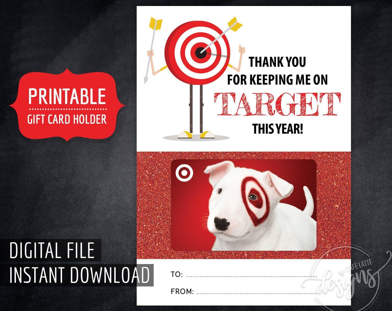TARGET Gift Card Holder for Teacher, Printable Thank You Teacher Digital Instant Download, End of Year Teacher Appreciation Target Gift Card