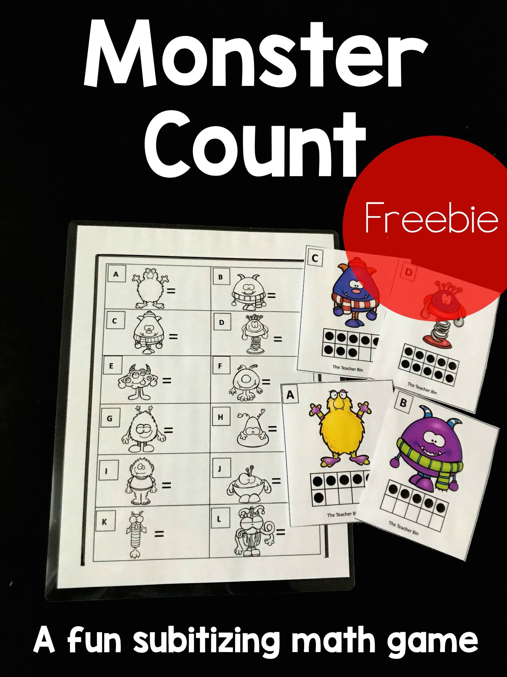 Kindergarten Subitizing Math Game Freebie