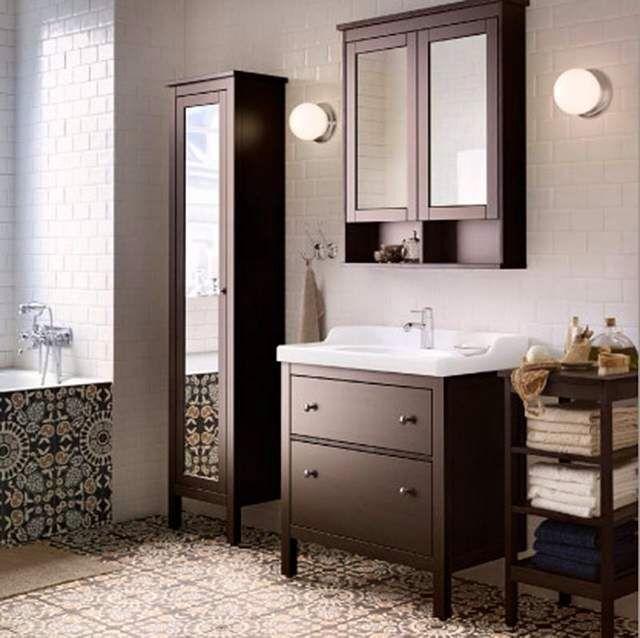 Hemnes bathroom bathroom Pinterest HEMNES, Bath and Master - hemnes wohnzimmer weis