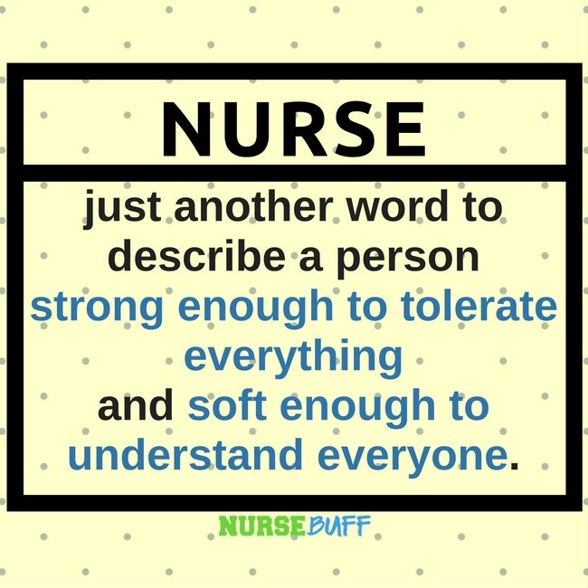 Definition Of Quote: TODAY'S QUOTE: The Dictionary Meaning Of Nurse