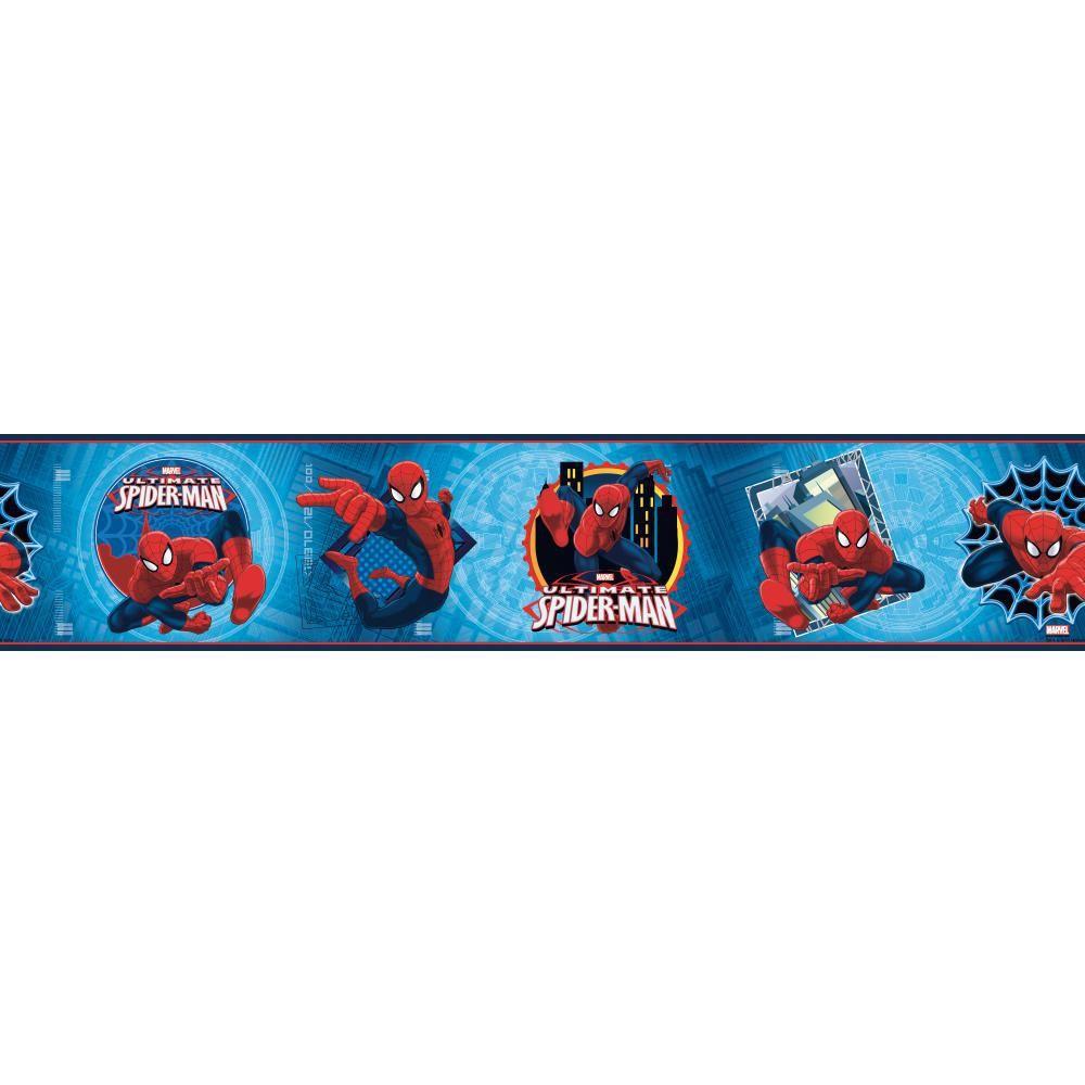 Zb3262bd Boys Will Be Boys Ultimate Spiderman Badge Border