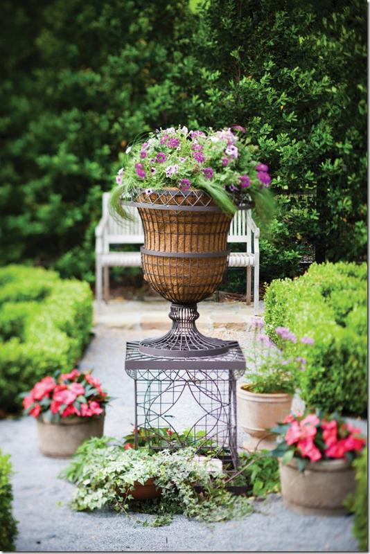 Wire Table, Garden Bench, Wire Garden Urn