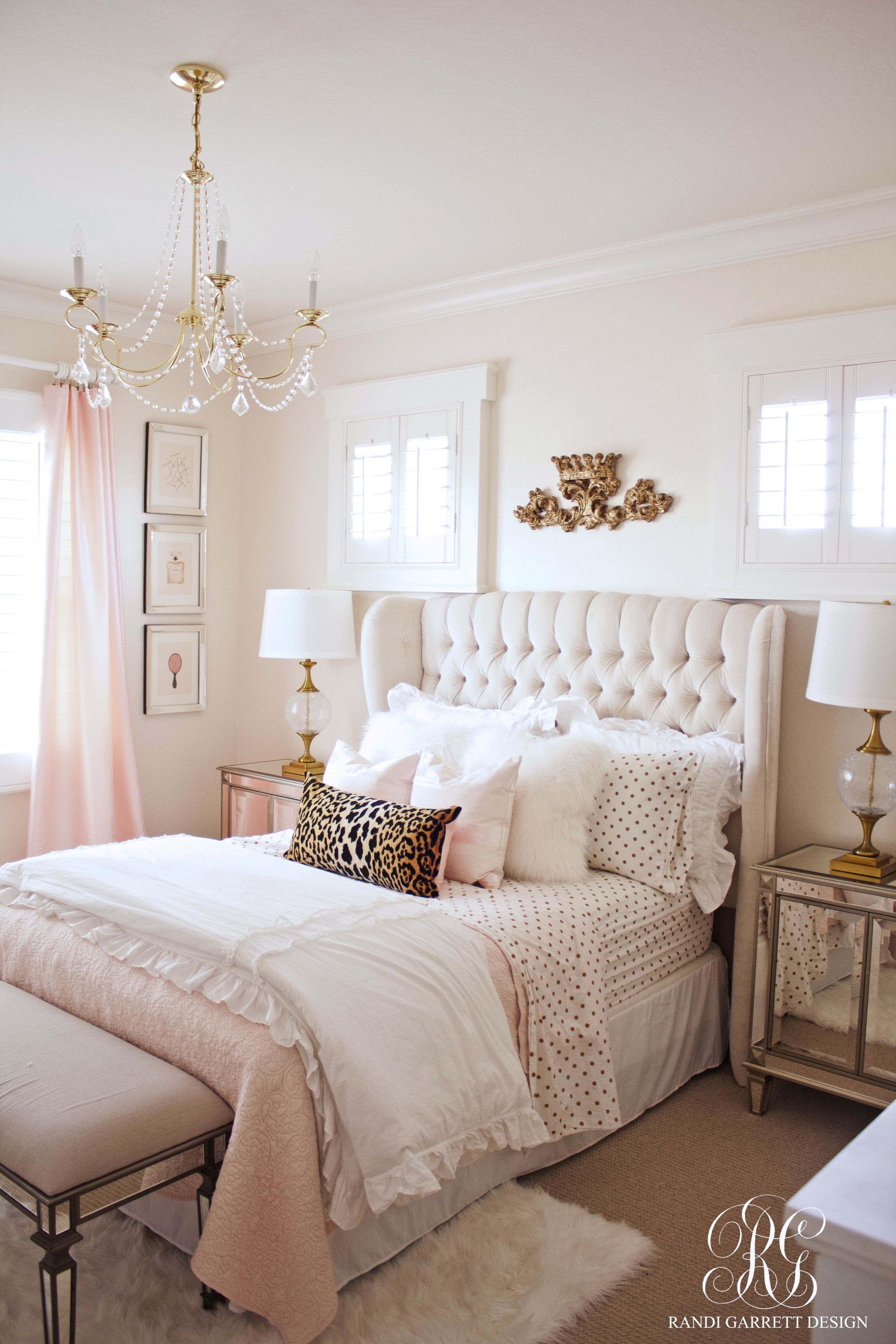 Pink And Gold Girl S Bedroom Makeover Randi Garrett Design