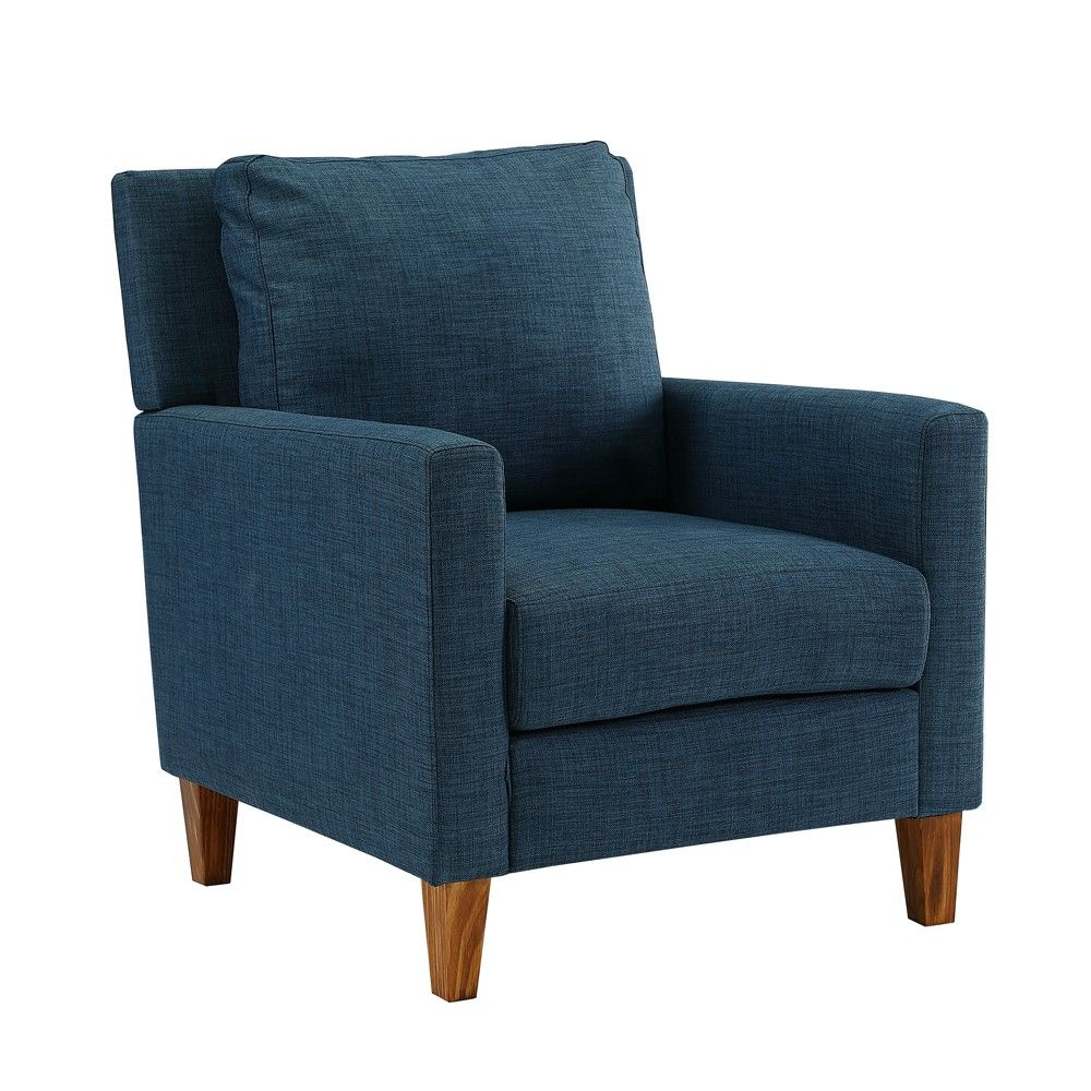 Pillow Back Accent Chair Blue Saracina Home Blue