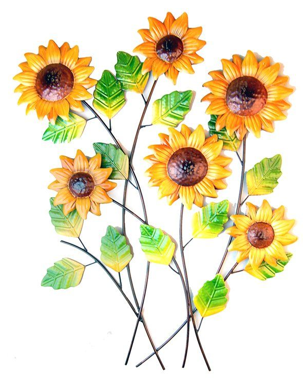 Metal Wall Art - Sunflower Cluster | Artwork .. and every other ...