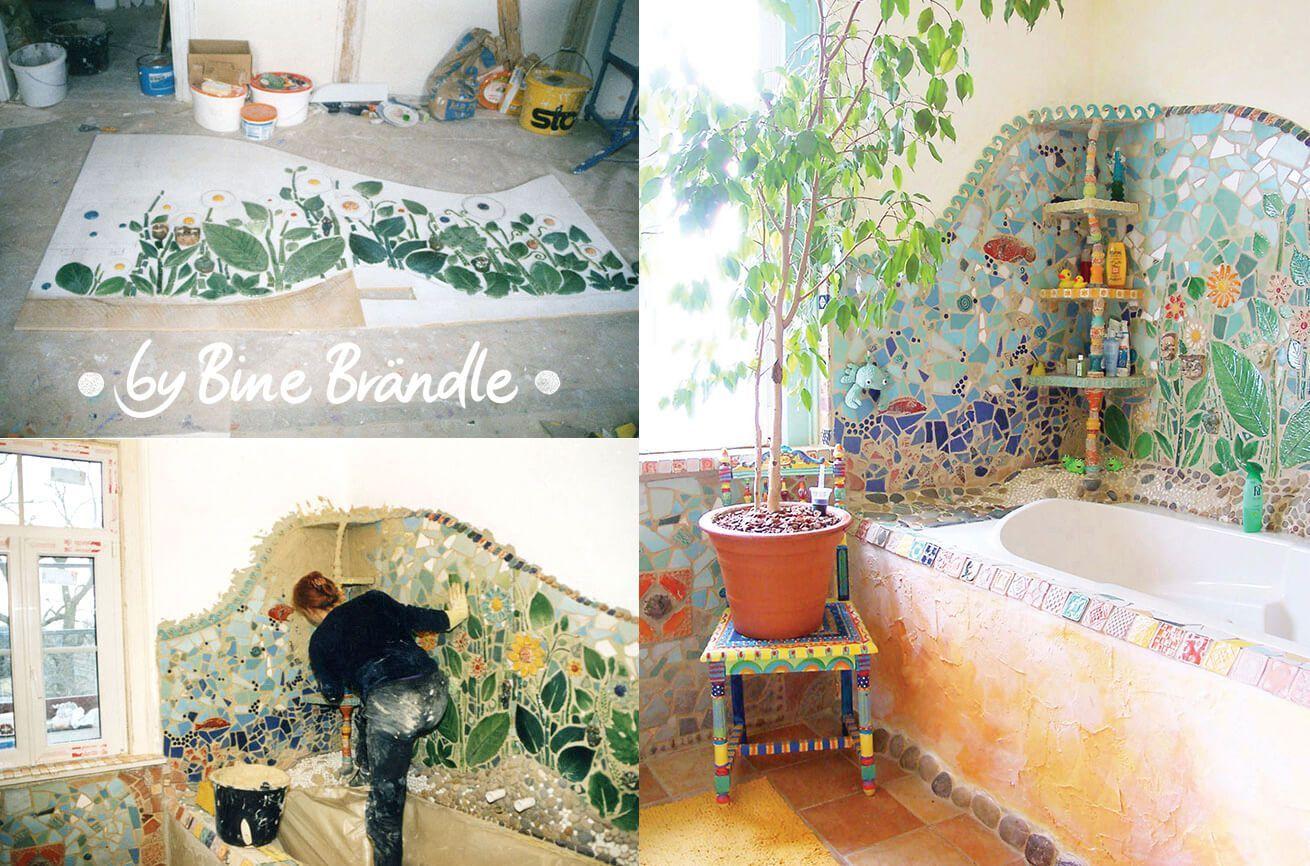Mosaik - Bine Brändle  Mosaik, Bad mosaik, Regenbogenhaus
