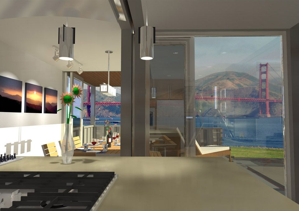 View from Kitchen Modeled in Sketchup and