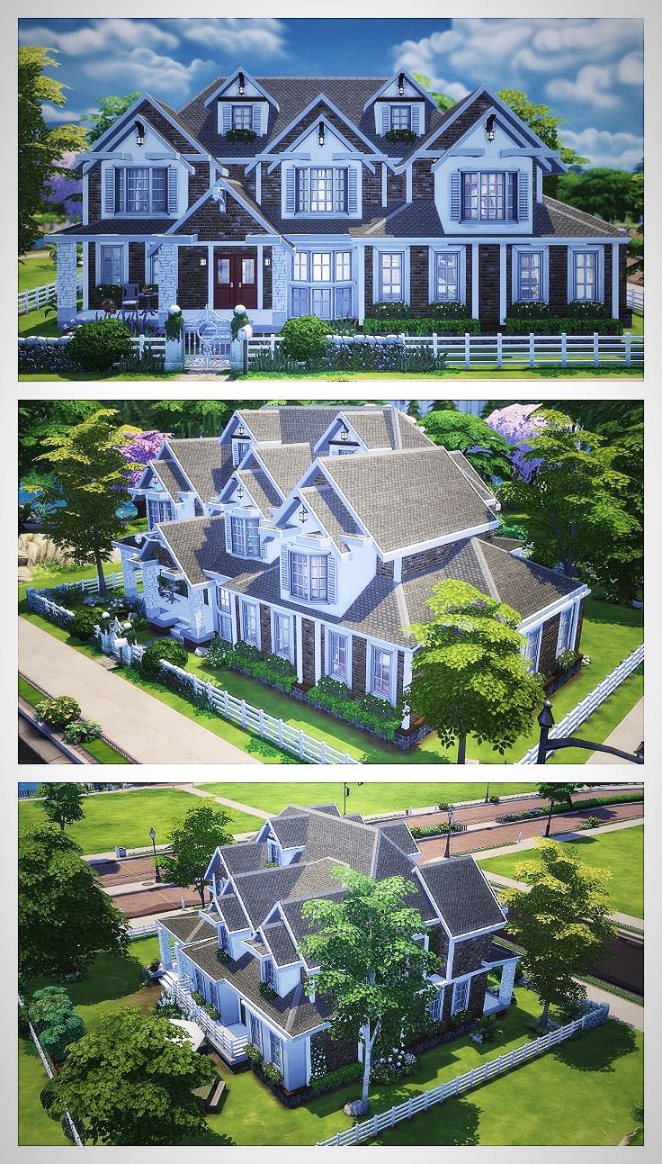 The Sims 4 Speed Build American House American House Architecture Sims House Sims Sims 4 Houses
