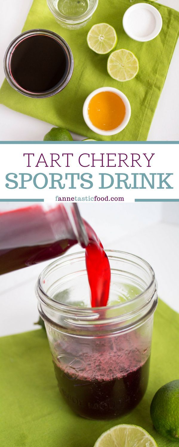 Tart Cherry Sports Drink Recipe Homemade energy drink