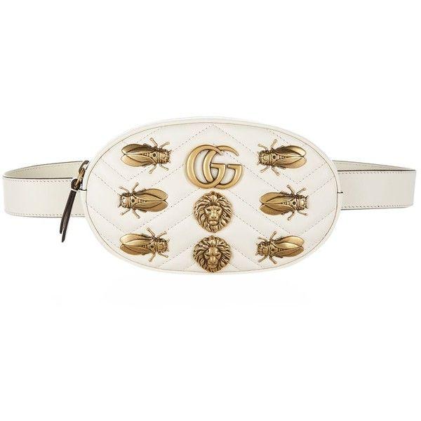 a3c471fa5fb Gucci Marmont Gold Bug Belt Bag ( 1