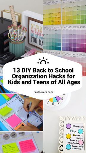 13 DIY Back to School Organization Hacks for Kids and Teens of All Ages #backtoschool