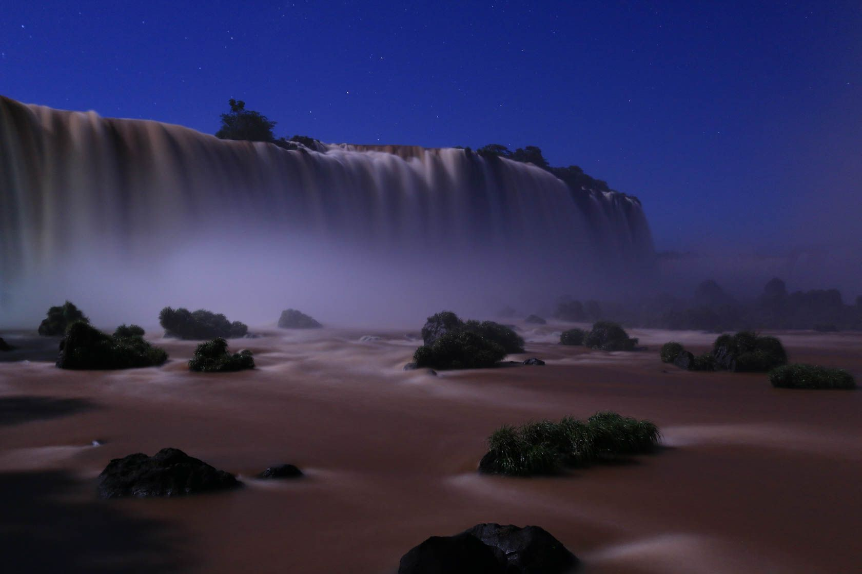Waterfalls By Night Taken With Canon Eos 70d Dslr Cameras And