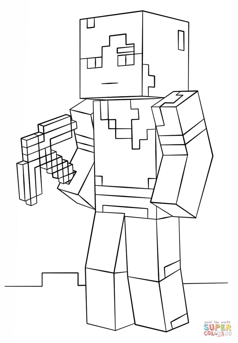 Minecraft Alex Super Coloring Coloring Pages Pinterest Craft