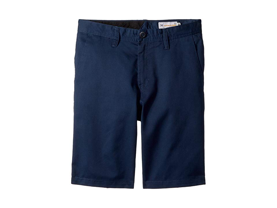 Volcom Kids Frickin Chino Shorts Big Kids Service Blue Boys Shorts A classic pair of chino shorts that are as comfortable as they are stylish Relaxed and comfortable fit...