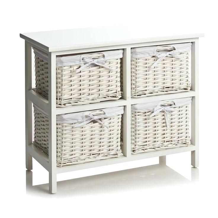 Ideas Wicker Bathroom Storage For 4 Drawer Split Wood Unit 93 Ikea