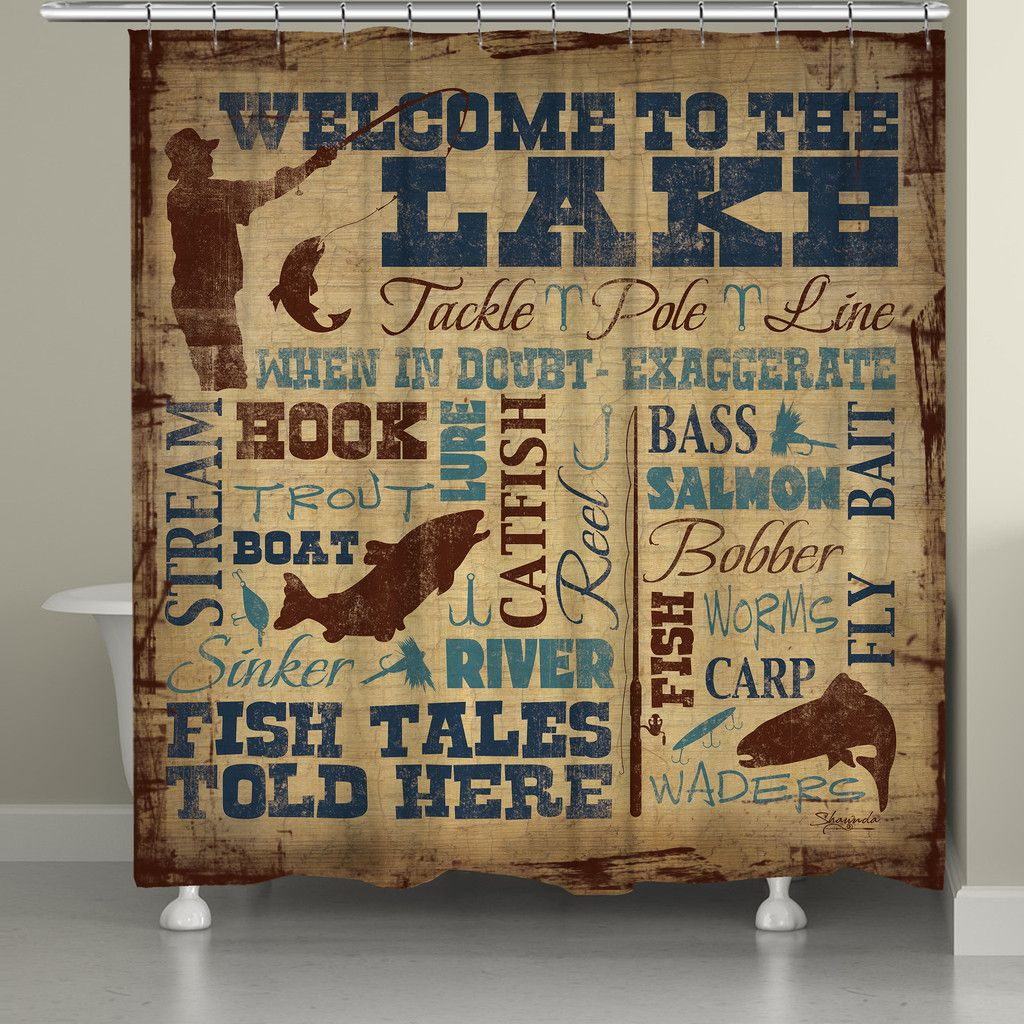 Welcome To The Lake Signs Decor Amazing Welcome To The Lake Shower Curtain  Lakes Country Houses And House Design Inspiration