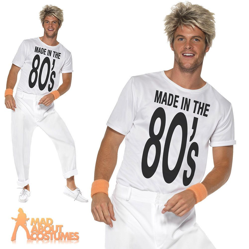Made in the 80s Costume Wham George Michael Fancy Dress Outfit M,L