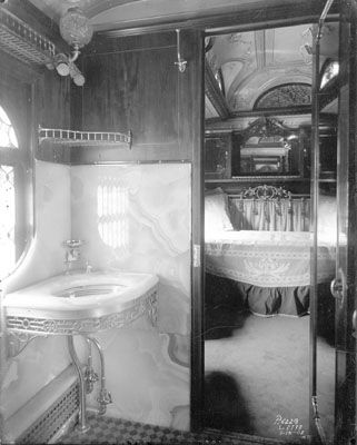 Late 1890s Early 1900s Either Private Car Or Drawing Room Trains Railroad Streetcars