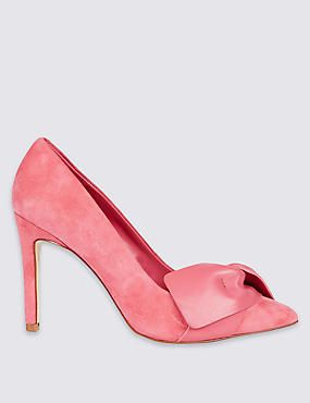 best sell on feet images of get online Suede Stiletto Court Shoes with Insolia® Marks and Spencers 2017 ...