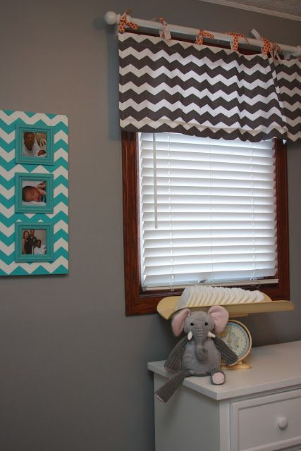 Chevron Curtain Contrasting Ties Wheeler S Home Made Lovely