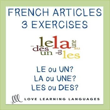 These 3 French Definite And Indefinite Articles Worksheets Are Best For Students Who Have B Definite And Indefinite Articles Articles Worksheet Teaching French