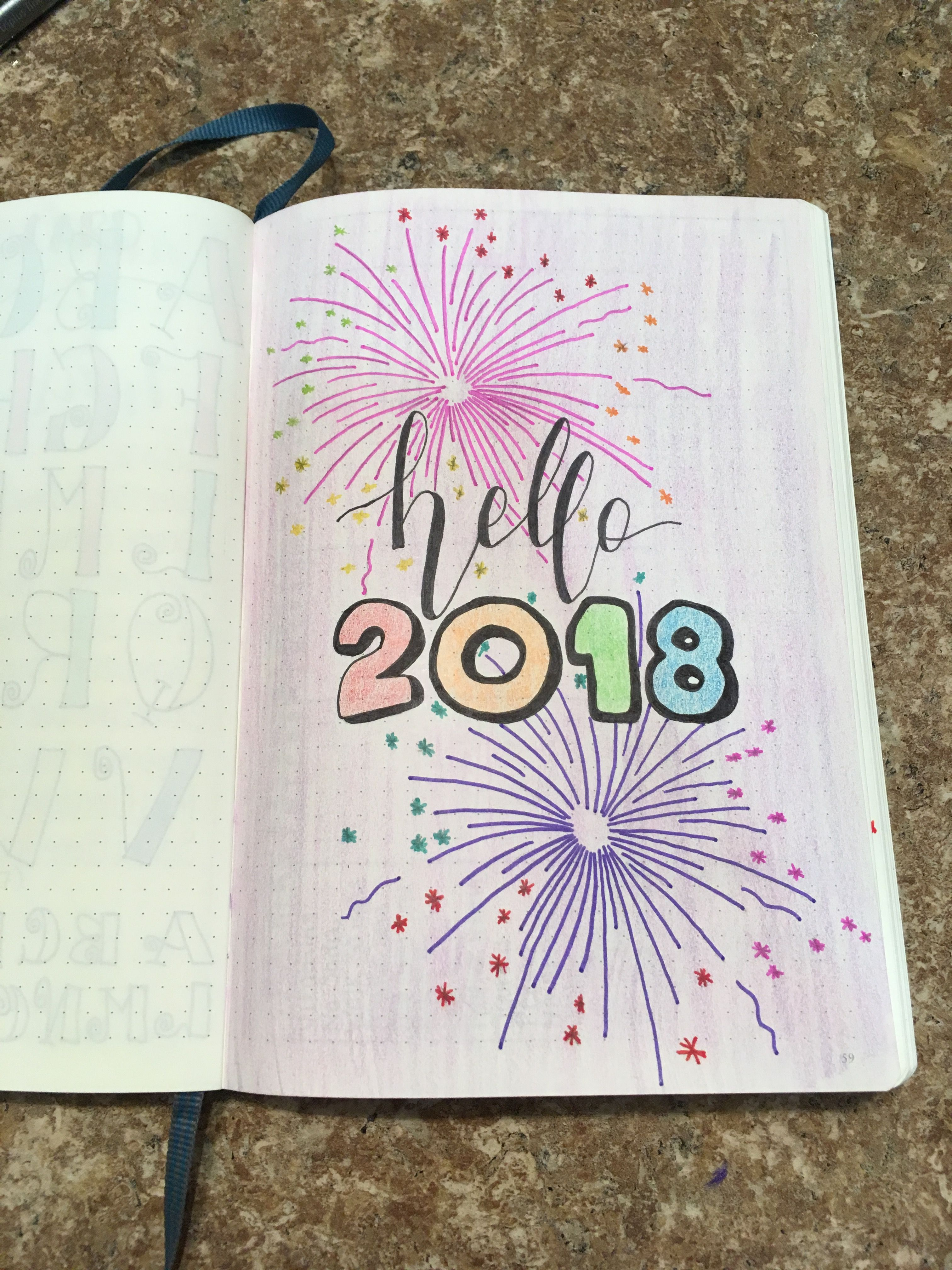 Book Cover Printable January : Bullet journal cover page january printable planer