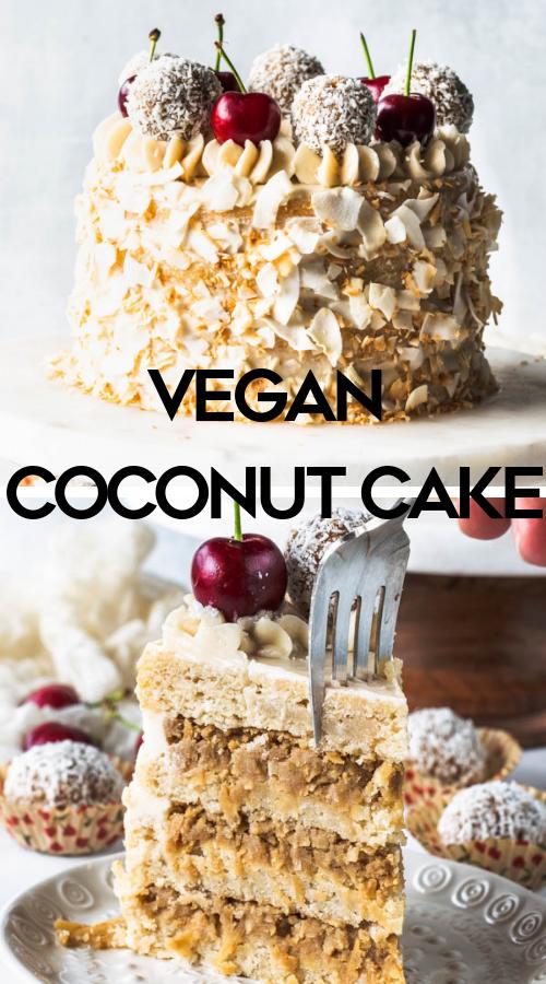 Vegan Coconut Cake Recipe Vegan Coconut Cake Vegan Cake Recipes Baking Recipes