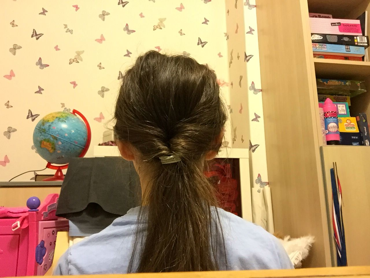 3. Twist leftover hair through the separated hair, Enjoy this easy and fun hairstyle!