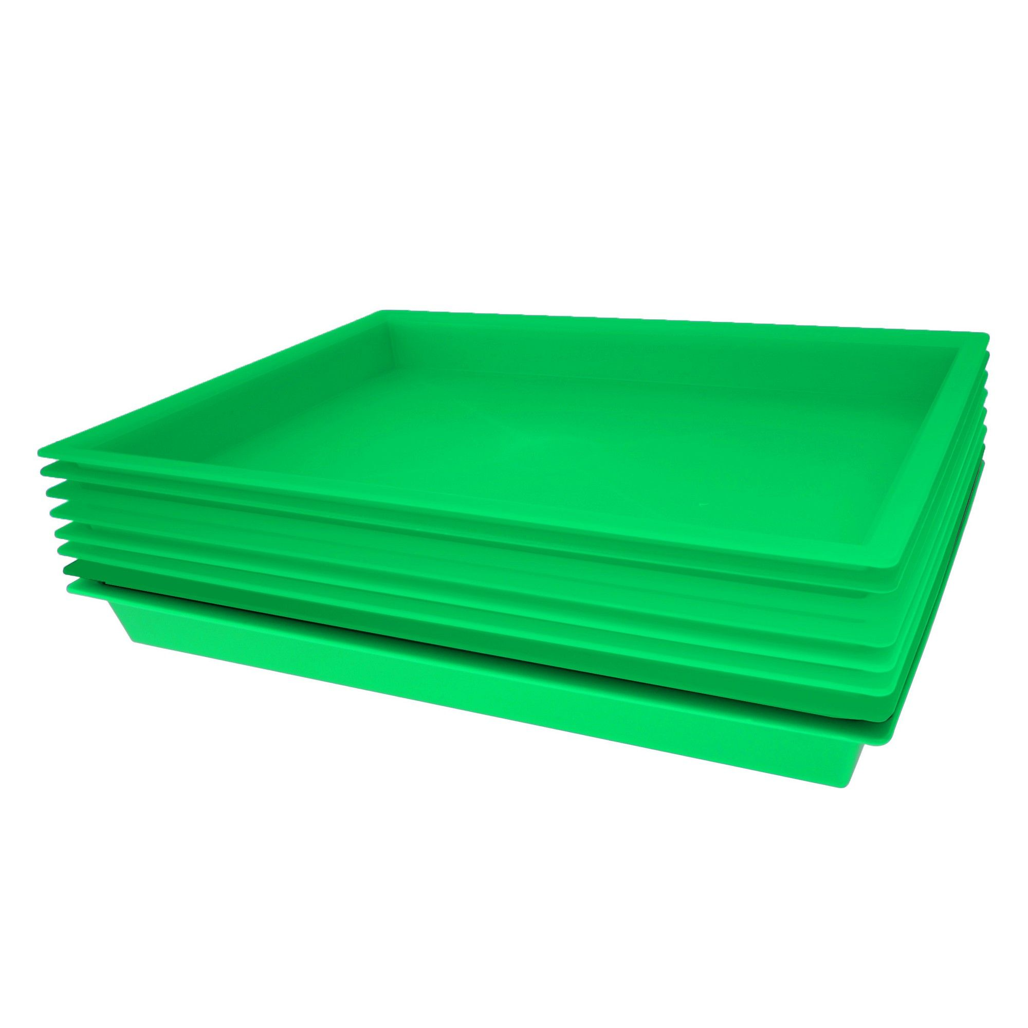 8pk Plastic Tray Green - Bullseye's Playground   Products