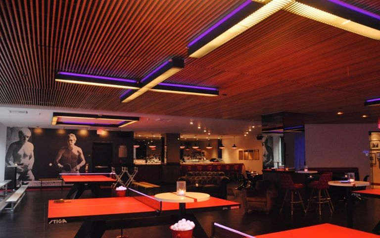 We Ll Be Spending Some Qt Spinla Venue For Several Ladesignfest Events Stay Tuned And Warm Up Your Paddle Skills Moder Ping Pong Spinning Standard Hotel