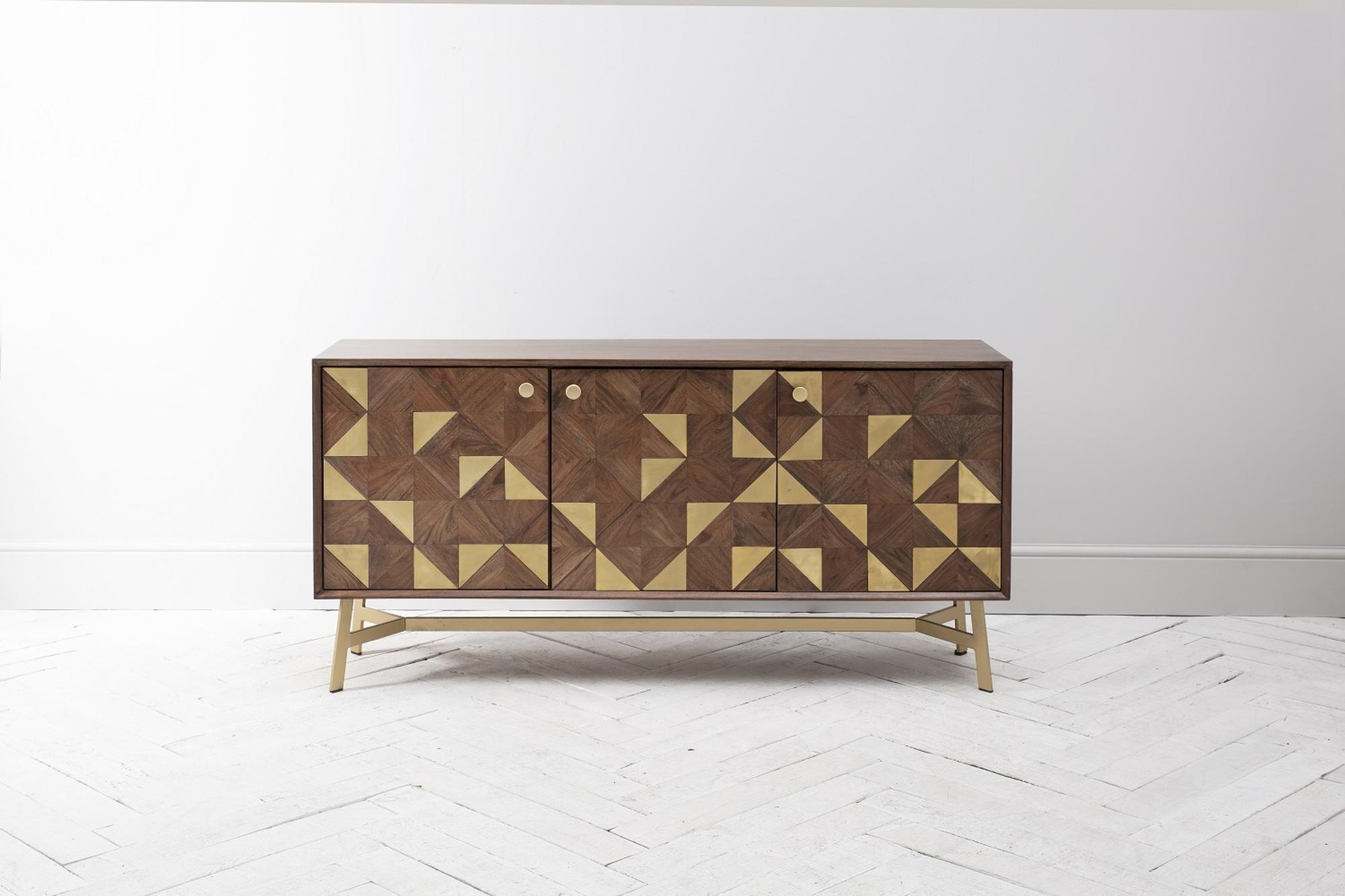Harvey Acacia And Brass Sideboard Brass Sideboard Sideboard