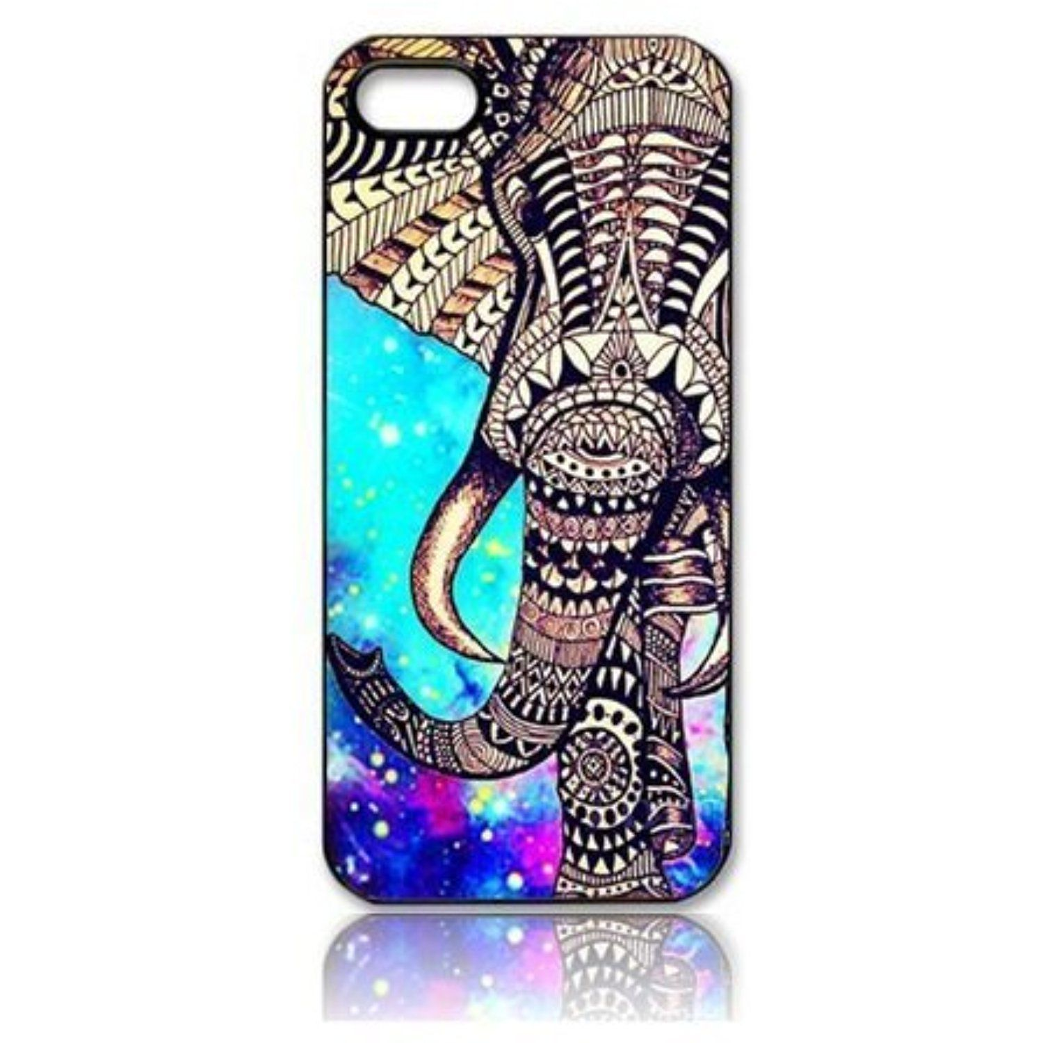 Superb Alexism Bluesky Striking Indian Elephant Galaxy Star Pattern Skin Case  Cover For Iphone 5g 5 5s