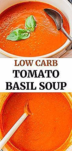 This homemade tomato soup is hearty and creamy without using cream It uses canned tomatoes roasted red pepper and fresh basil for an easy quick and flavorful soup This re...