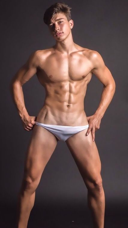 Hot bald male model