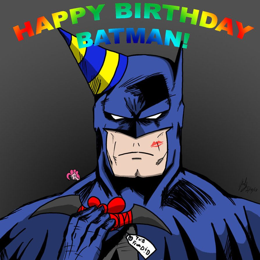 Открытки бэтмен с днем рождения
