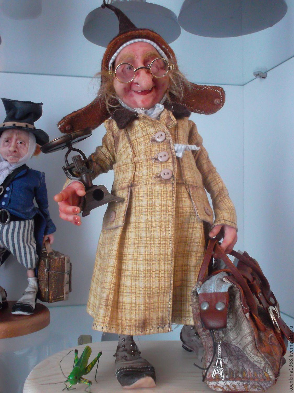 Купить Эльф-коротышка. - бежевый, кукла ручной работы ...