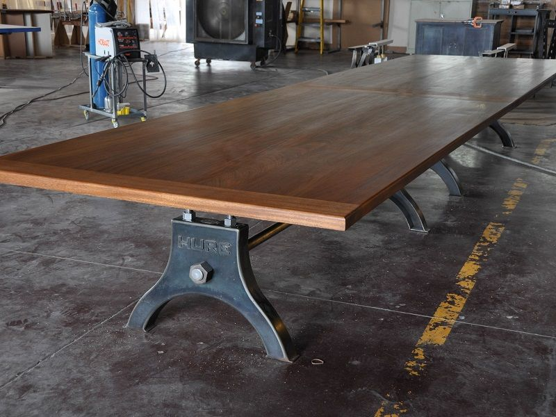 Foot Mahogany Hure Conference Table By Vintage Industrial In - 20 foot conference table