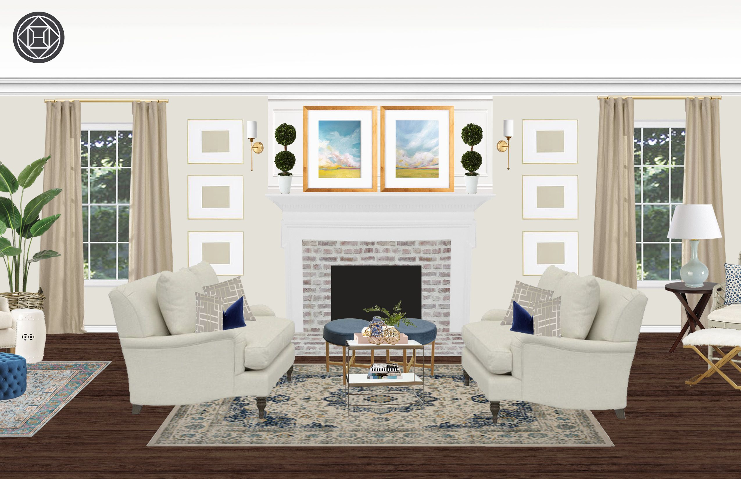 Classic Traditional Living Room Style Glamorous Living Room